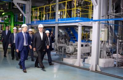 Мэр Москвы Сергей Собянин осмотрел новый парогазовый энергоблок мощностью 220 МВт на ТЭЦ-12