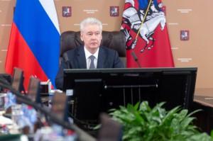 Мэр Москвы Сергей Собянин на заседании Правительства столицы