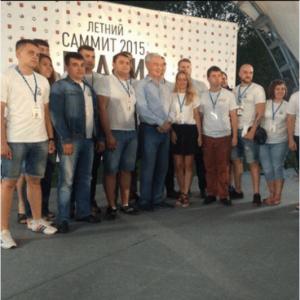 Председатели молодёжных палат ЮАО с Мэром Москвы Сергеем Собяниным