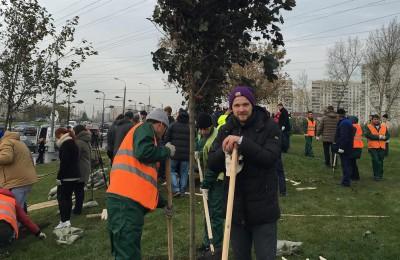 Борис Поткин принял участие в акции по озеленению в районе Нагатино-Садовники