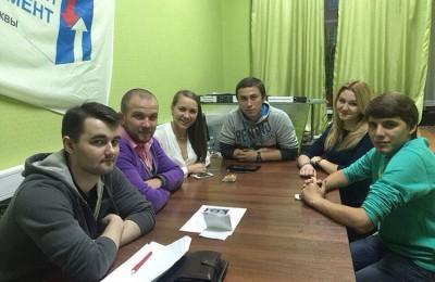 Встреча куратора молодежных палат (МП) ЮАО Юлии Макарцевой с молодыми парламентариями прошла в районе Нагатино-Садовники