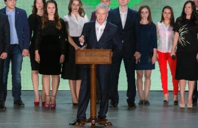 Мэр Москвы Сергей Собянин выступил на встрече юных парламентариев