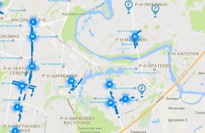 Карта парковок ЮАО