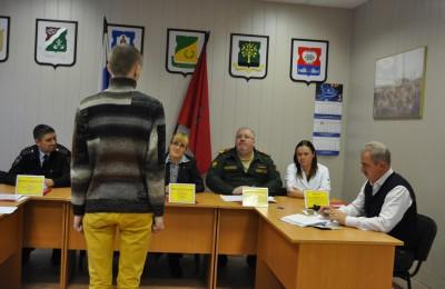 Очередное заседание призывной комиссии района Нагатино-Садовники
