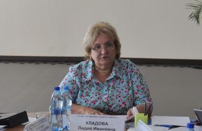 На фото глава муниципального округа Лидия Кладова
