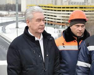 Мэр Москвы Сергей Собянин проинспектировал ход реконструкционных работ на развязке со МКАД в районе Калужского шоссе