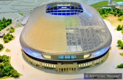 На фото макет реконструированного стадиона «Динамо» в рамках проекта «ВТБ Арена парк»