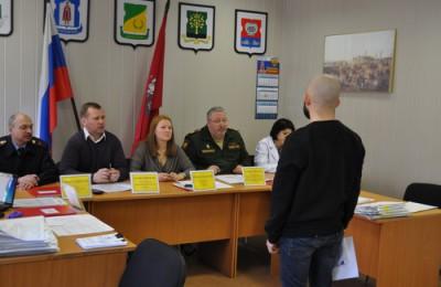 На фото призывная комиссия района Нагатино-Садовники
