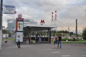 На фото вестибюль станции метро Коломенская