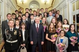 Мэр Москвы Сергей Собянин провел встречу с победителями Всероссийской олимпиады