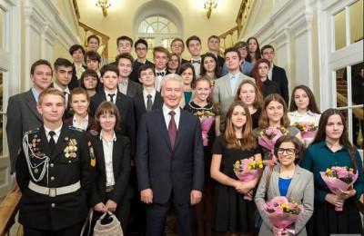 Мэр Москвы Сергей Собянин встретился с победителями Всероссийской олимпиады