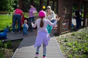 Дети смогут принять участие в цирковых номерах с контактным жонглированием