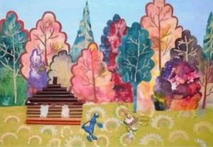 На фото работа одного из учеников детских творческих мастерских при Московском подворье Спасо-Преображенского Валаамского монастыря