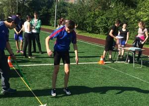 Юные спортсмены соревновались в беге и прыжках в длину с места