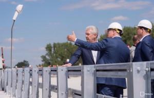 Собянин осмотрел строющуюся развязку на Ленинградском шоссе