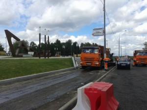 Пешеходная зона появится на проспекте Андропова возле главного входа в местный парк