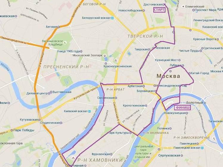 карта велопарада