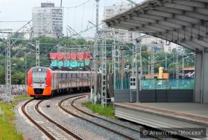 На фото поезд Ласточка