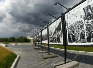 Увидеть фотографии гости парка смогут на стендах под открытым небом вдоль главной аллеи