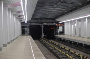 На фото платформа станции Технопарк в ЮАО