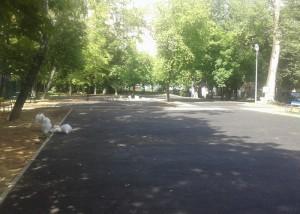 По адресу: улица Нагатинская, дом 27, корпус 3 полностью обновили асфальтовое покрытие