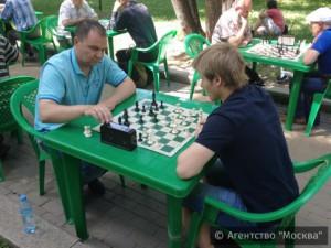 Шахматисты на открытом воздухе