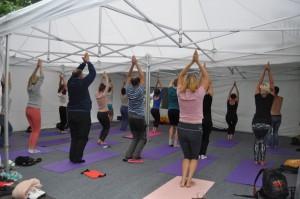 К занятиям йоге и дыхательным практикам могли присоединиться все желающие