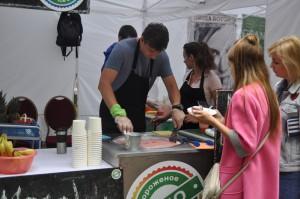 На фестивале можно было попробовать эко-мороженое