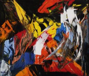 На фото одна из работ художника, представленных на выставке