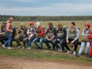 Воспитанники клуба парашютного спорта