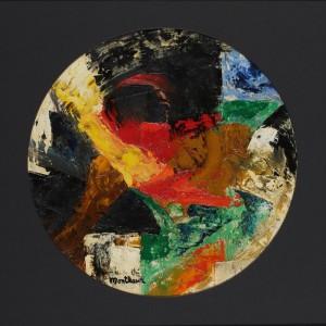 На фото единственное полотно художника в форме круга