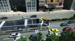 СМИ сообщили об испытаниях автобуса будущего шириной свыше семи метров и высотой в 4,8 метра