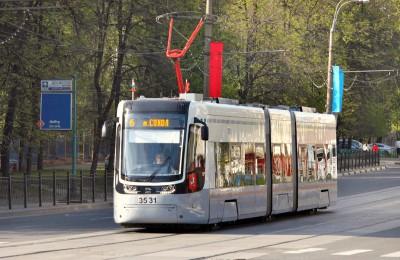 На фото трамвай нового типа