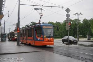 На фото новый столичный трамвай