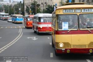 13 августа в Москве прошел парад ретро-автобусов