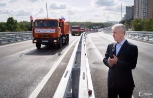 Собянин рассказал о том, как изменится транспортная ситуация в Москве после открытия Волоколамского путепровода и развязки на Ленинградке