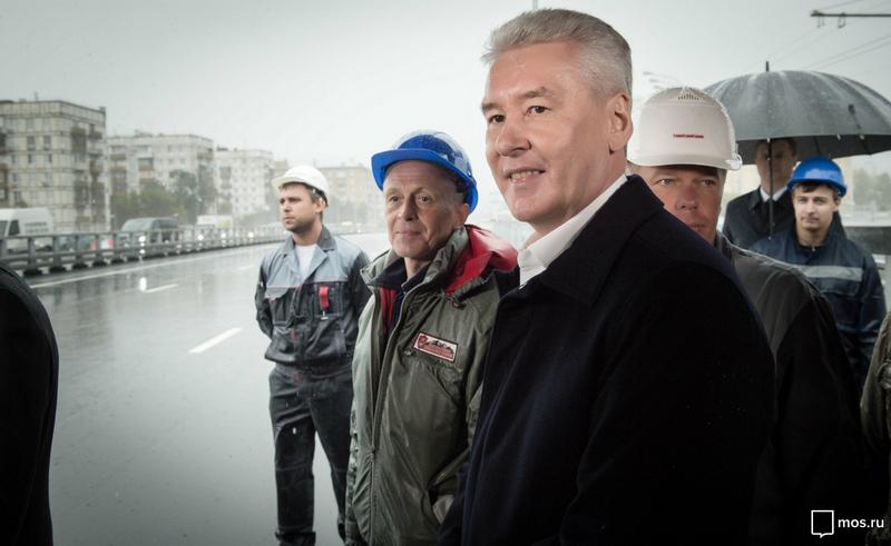 1-ый этап реконструкции Калужского шоссе вступил взавершающую фазуу— Собянин