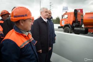 Собянин открыл движение по первому в Москве винчестерному тоннелю