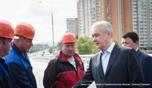 Собянин объявил об открытии эстакады на Липецкой улице в ЮАО Москвы