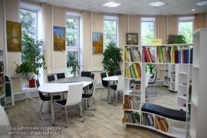 На фото один из залов библиотеки №135 на Каширке