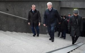 Собянин осмотрел новый пешеходный переход в ЮЗАО Москвы