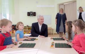 Собянин посетил новый детский сад в ЗАО Москвы