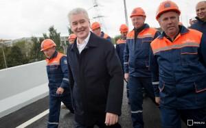 Мэр Москвы Сергей Собянин проинспектировал строительство Северо-Западной хорды