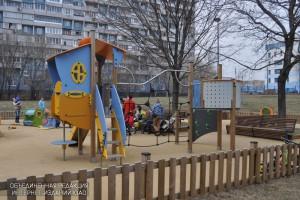 Даже в холодное время года парк на проспекте Андропова остается излюбленным  местом отдыха горожан