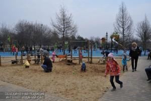 Даже в холодное время года парк на проспекте Андропова остается излюбленным местом москвичей