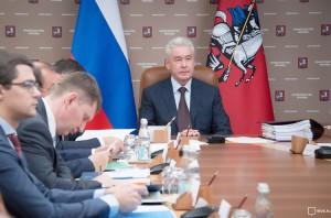 Сергей Собянин на заседании президиума правительства