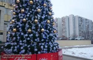 Новогодняя ель в ЮАО
