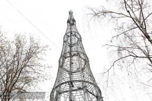 На фото Шуховская башня на Шаболовке