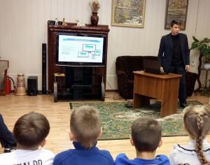Валерий Пономарев поговорил со школьниками о размещении личных данных в сети, о цифровом портрете ее пользователей, о сетевом этикете и о правилах анонимности в интернете