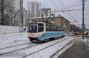 Трамвай в районе Нагатино-Садовники